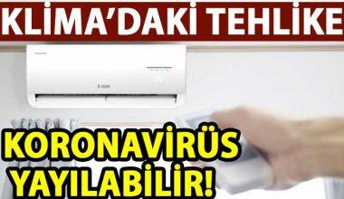 Korona virüsü önlemek için ;Klimayı değil pencereyi açın